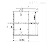 供應☆手動風量調節閥(矩形)-冶金閥門