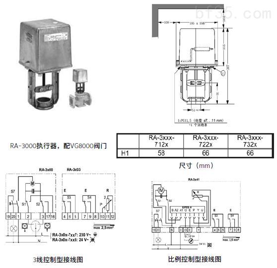 江森ra-3000系列电动执行器