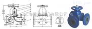 G49J三通隔膜阀|G49J-10不锈钢三通隔膜阀|三通隔膜阀
