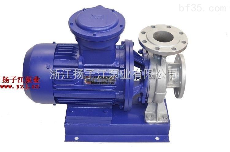 管道泵:ISWB型卧式单级防爆管道离心泵